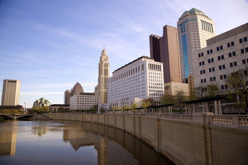 Columbus Ohio horisont arkivbild