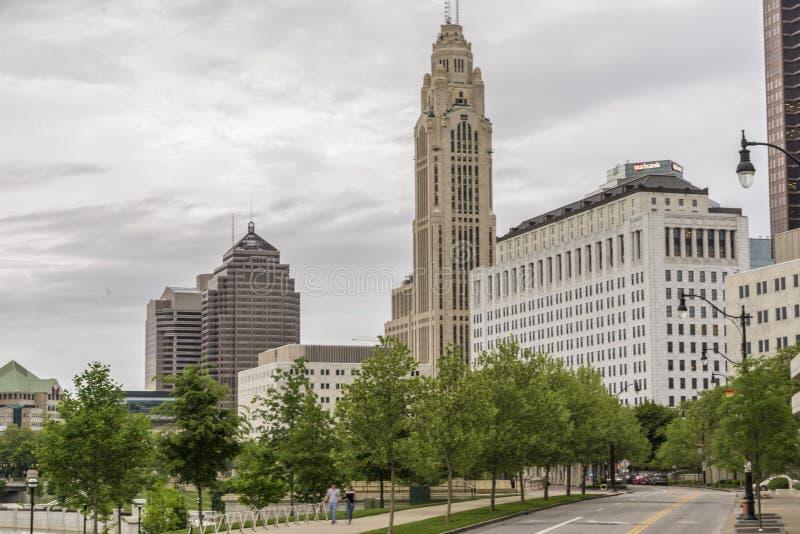 Columbus Ohio, horizonte imagen de archivo libre de regalías