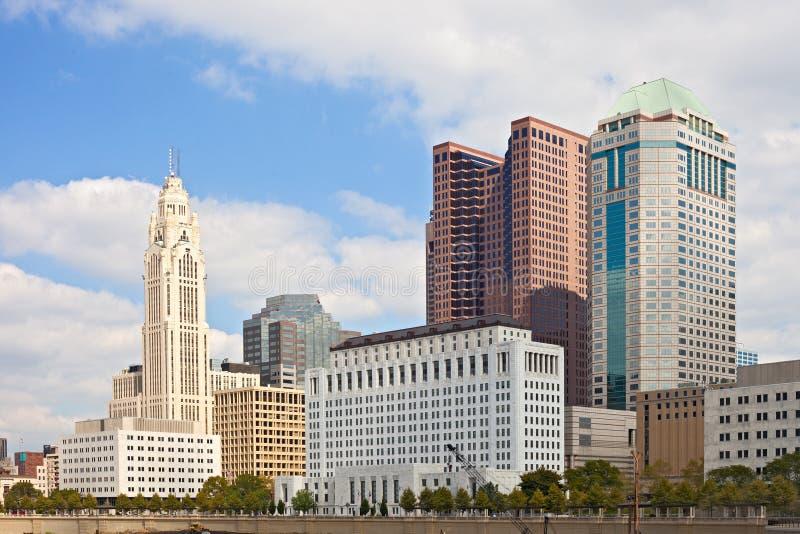 Columbus Ohio los E.E.U.U., horizonte de los edificios del negocio foto de archivo libre de regalías