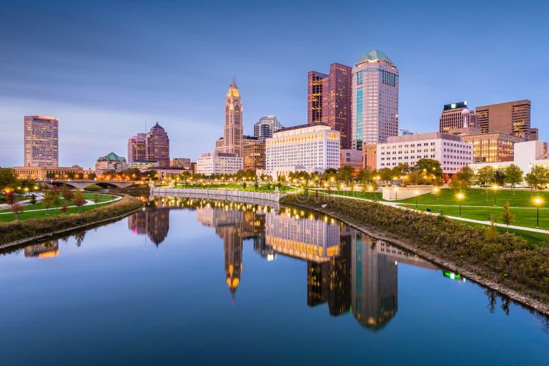 Columbus, Ohio, orizzonte di U.S.A. fotografie stock libere da diritti