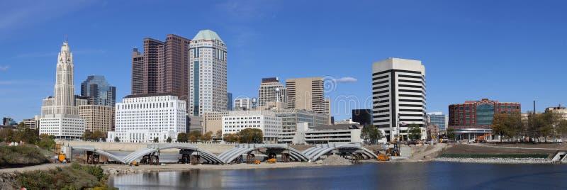 Columbus Ohio (panorámico) imagen de archivo libre de regalías