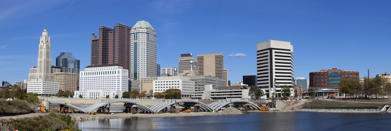 Columbus Ohio (panoramic) royalty free stock image