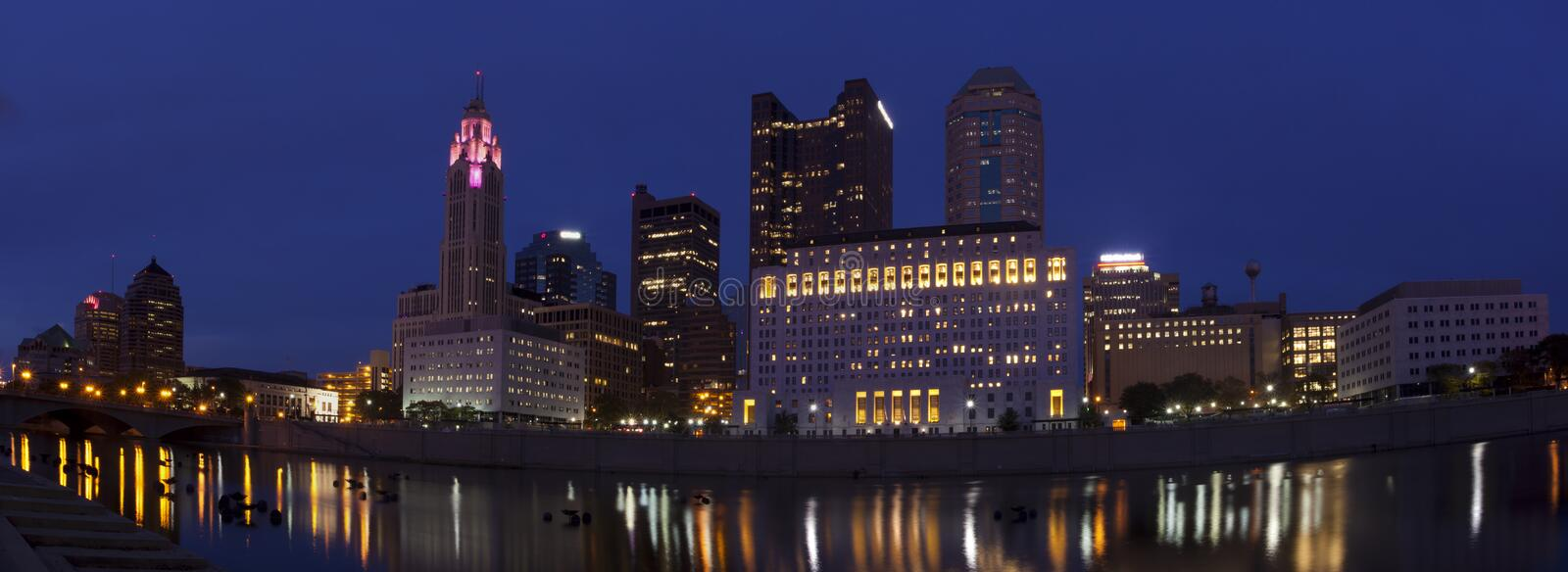 Columbus Ohio (panoramique) photo stock