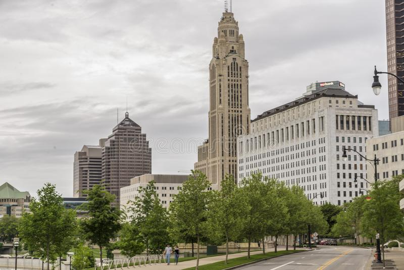 Columbus Ohio, Skyline lizenzfreies stockbild