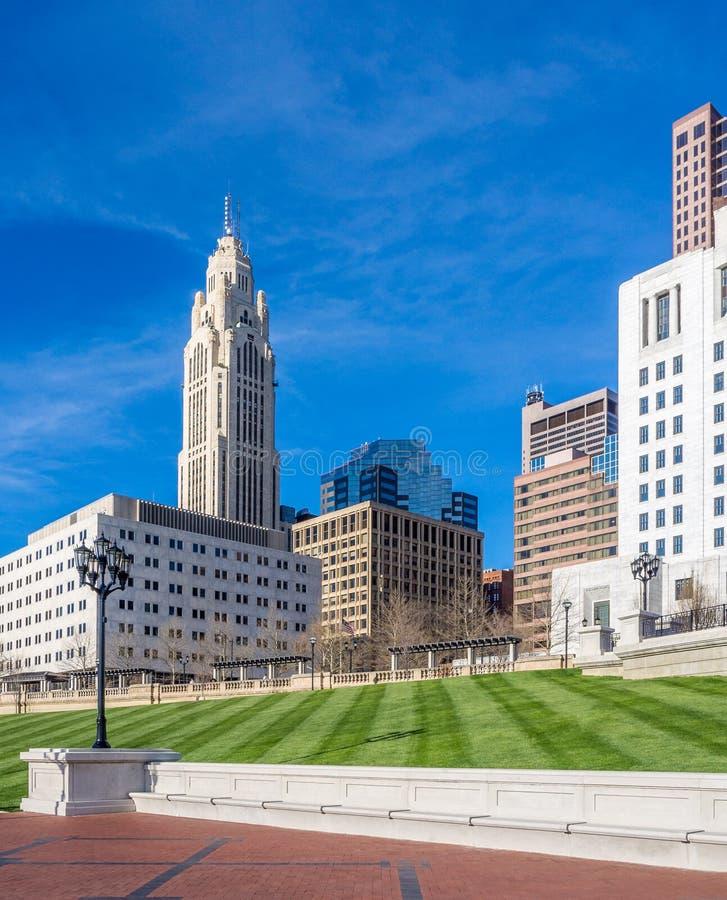 Columbus Ohio Skyline fotos de archivo libres de regalías