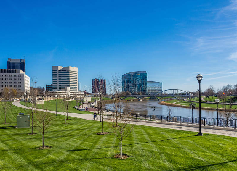 Columbus Ohio Skyline imagenes de archivo