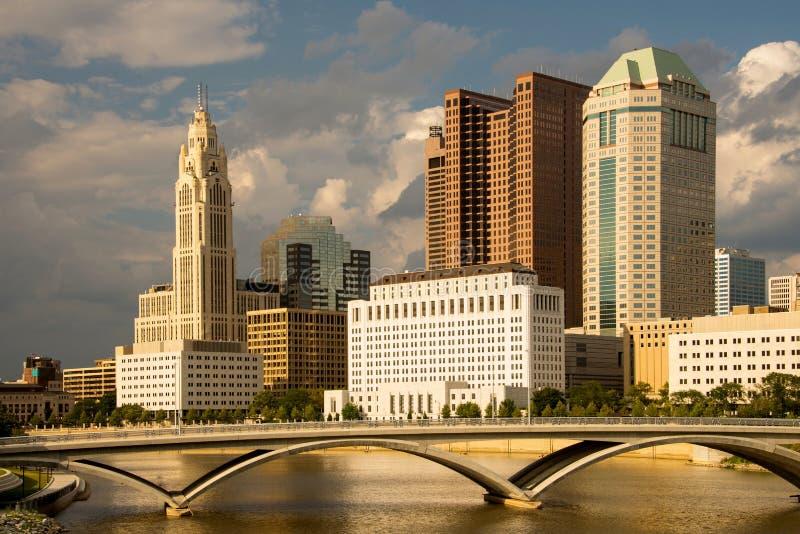 Columbus Ohio Skyline pendant l'après-midi photos libres de droits