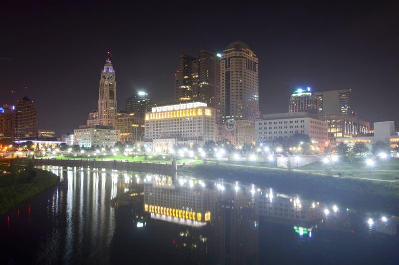Columbus, Ohio - USA - August 28, 2016: View of downtown Columbus Ohio Skyline royalty free stock image