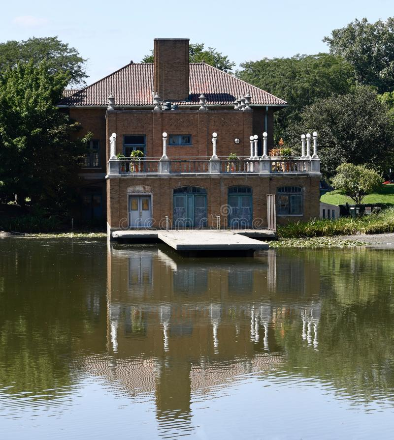 Columbus Park Boathouse fotografia stock