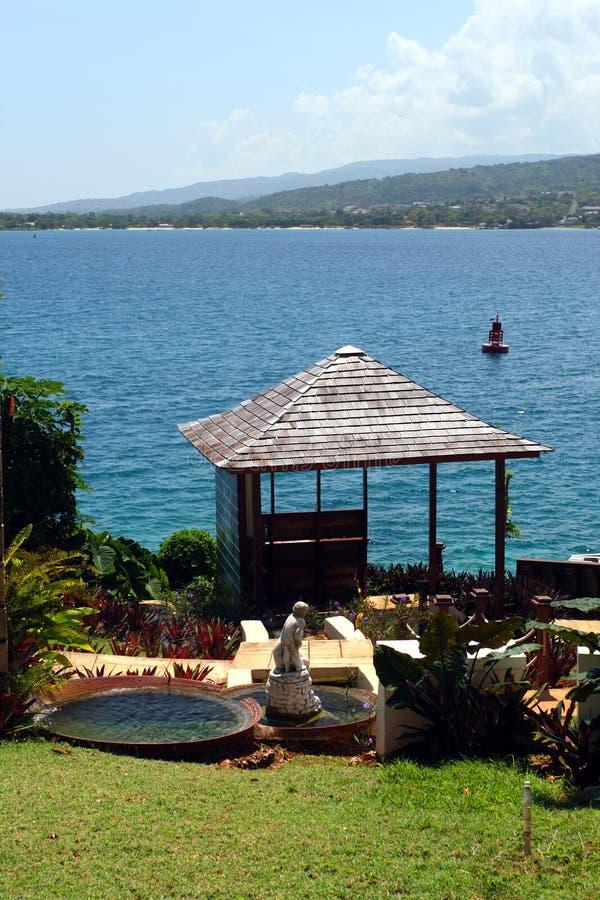 Columbus Park Discovery Bay Jamaica images libres de droits