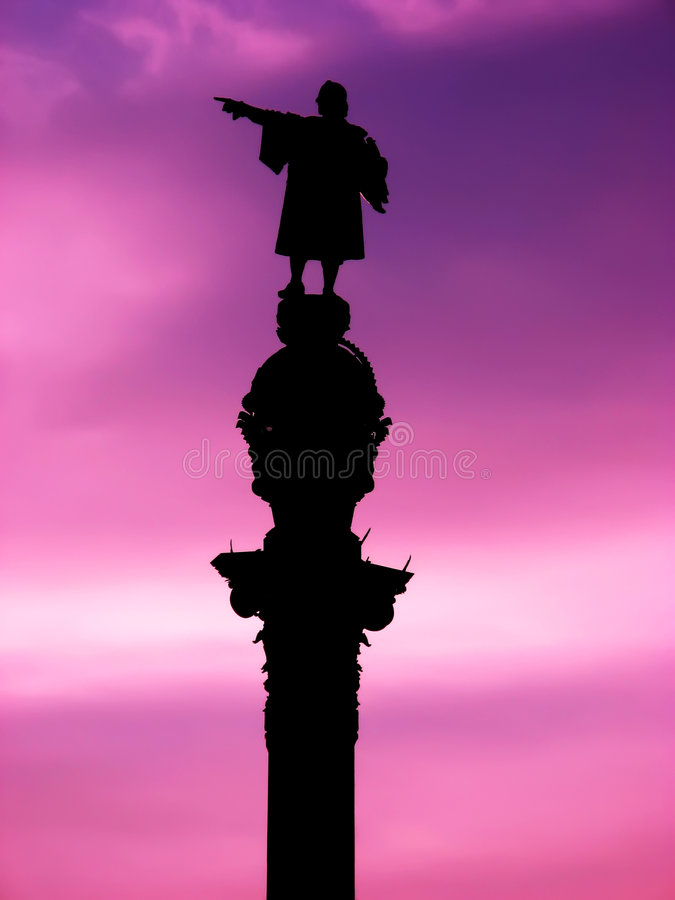 columbus pomnik zdjęcie stock