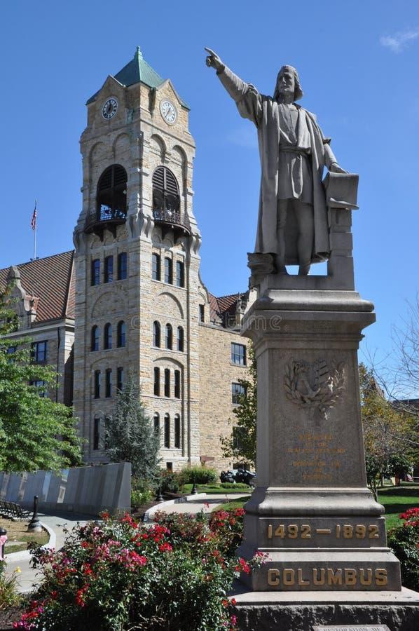 Columbus Statue image libre de droits