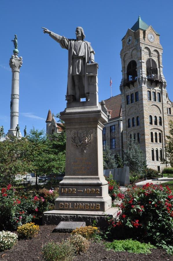 Columbus staty i Scranton arkivfoto