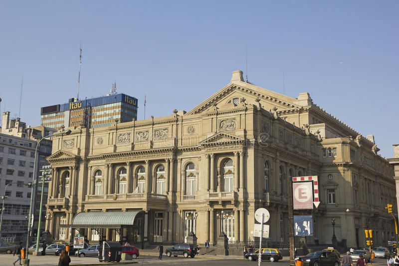 Columbus Theatre, Buenos Aires, Argentina. Colon Theatre in Buenos Aires, Argentina. This Opera House is considered one of the top 5 world's concert halls royalty free stock images