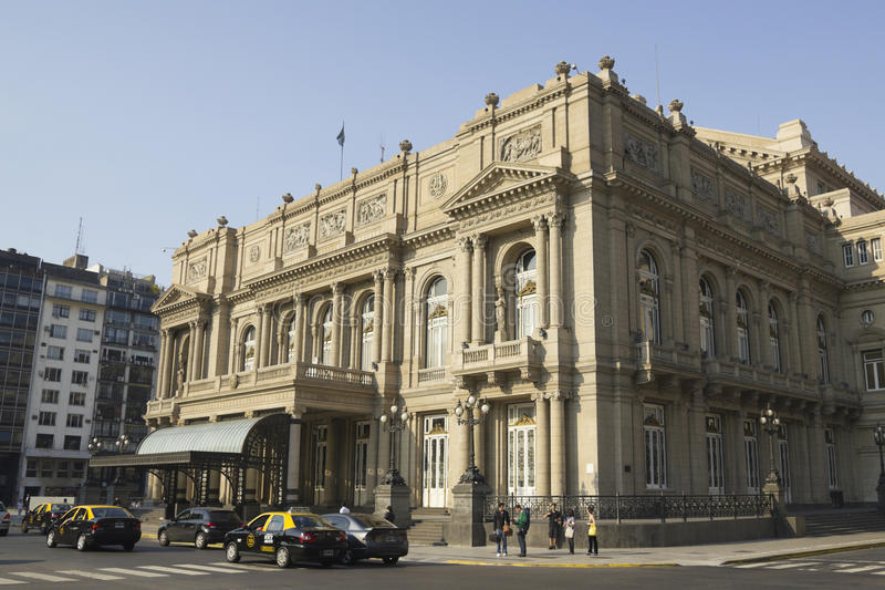 Columbus Theatre, Buenos Aires, Argentina. Colon Theatre in Buenos Aires, Argentina. This Opera House is considered one of the top 5 world's concert halls royalty free stock photography