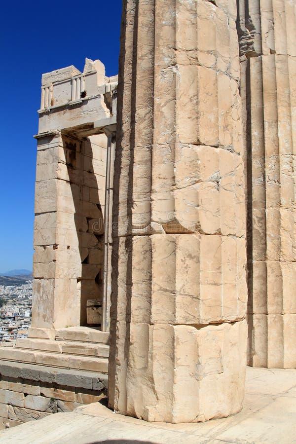Column at Acropolis royalty free stock photos