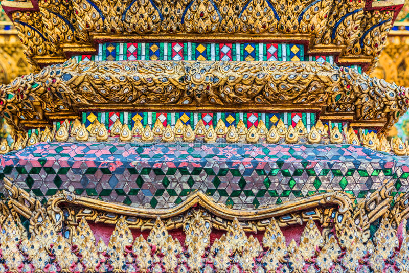 Column detail grand palace Phra Mondop bangkok thailand royalty free stock photos