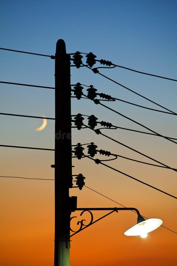 Column Of Electricity Stock Photo