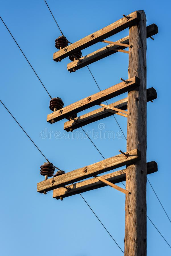Column for electricity stock photography