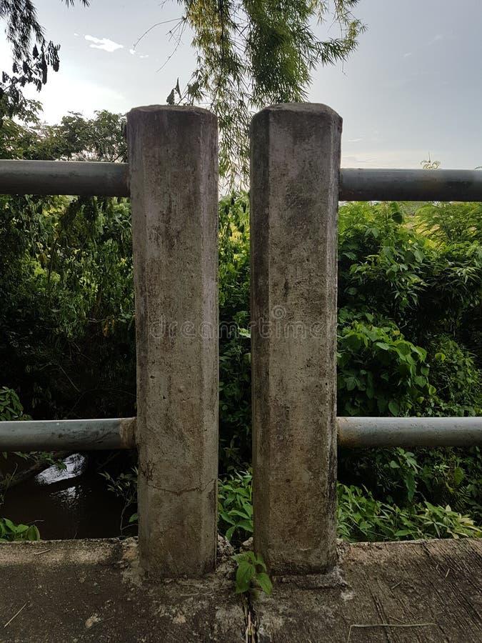 Column fence of bridge royalty free stock photo