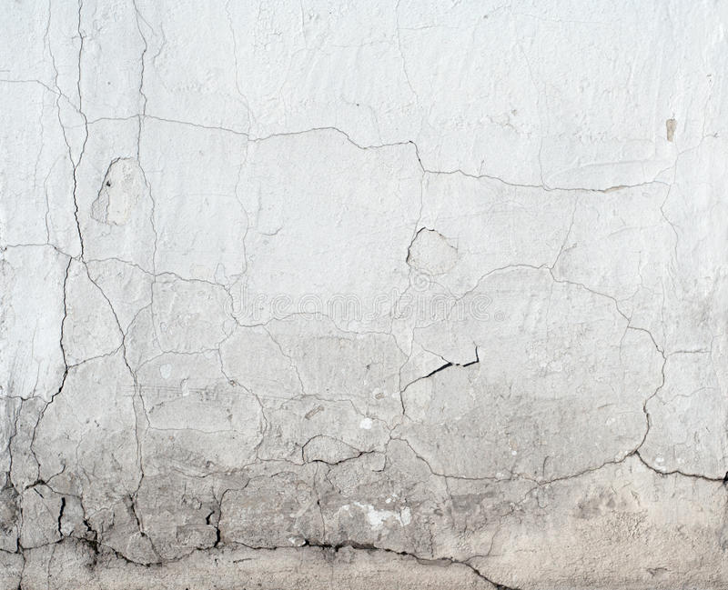 Column foot with signs of past water damage. royalty free stock photo