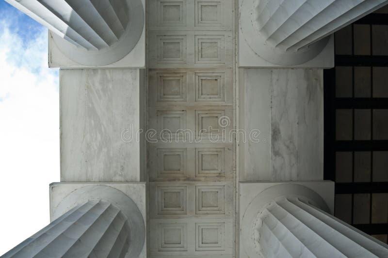 Column Geometries. At Lincoln Memorial in Washington DC 2007 stock photos