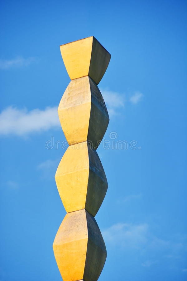 Column of the Infinite by Constantin Brancusi. Endless Column by Constantin Brancusi in Targu Jiu, Romania. Symbolizes the Infinite Sacrifice of the Romanian stock photography