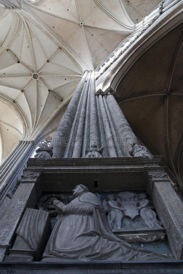 Download Column Inside Amiens Cathedral Stock Photo - Image: 11496252