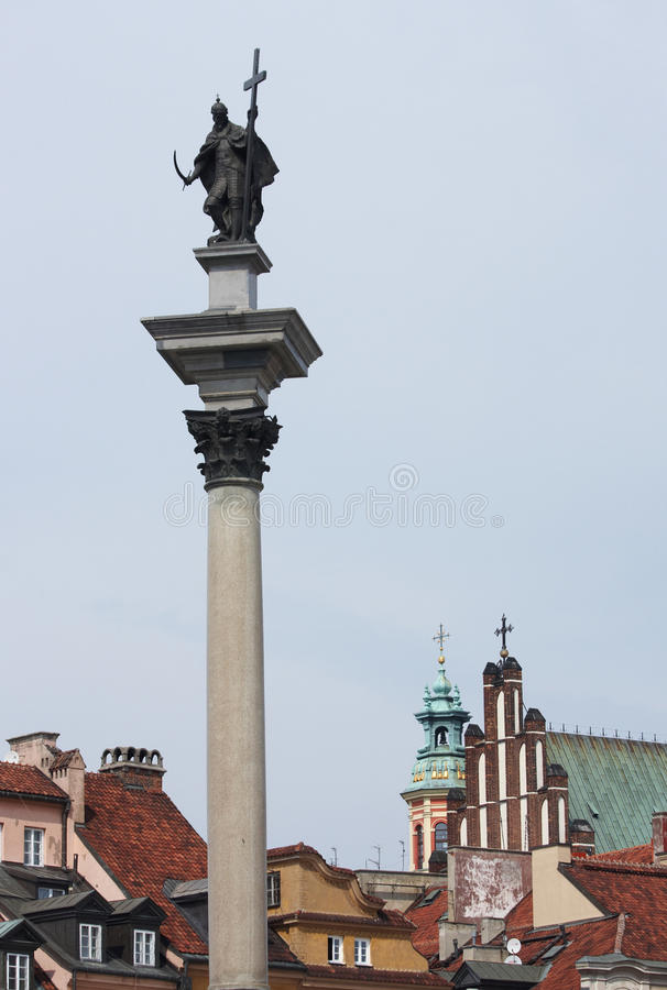 Column Of The King Sigismund III Wasa Royalty Free Stock Photography