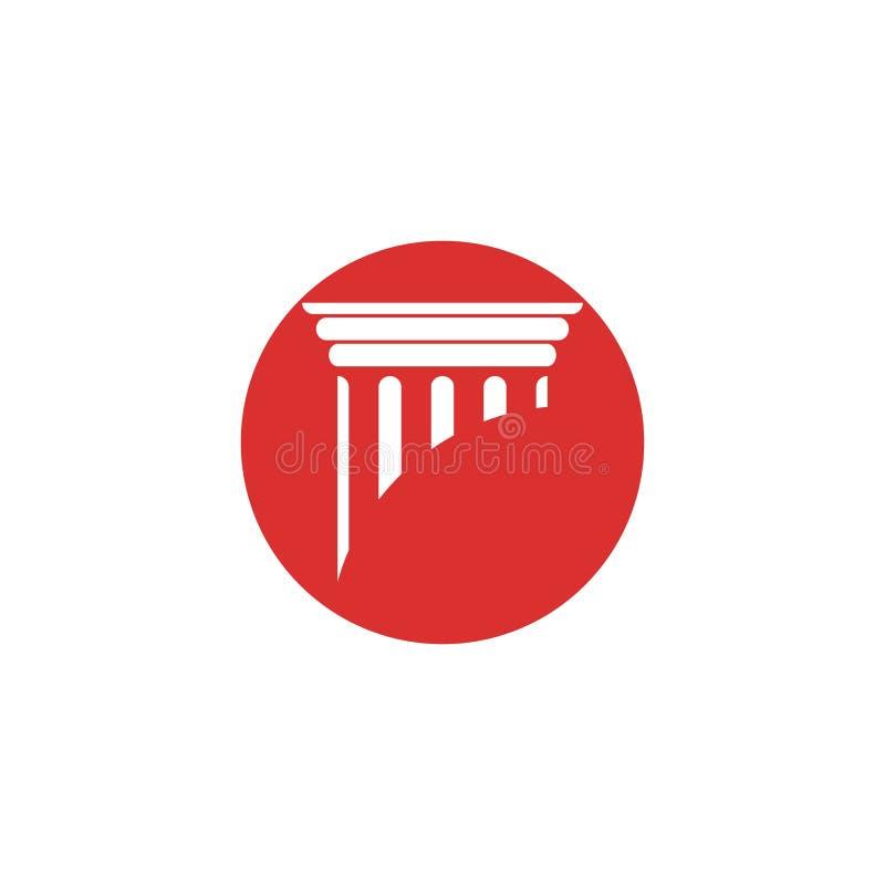 column Logo Template vector icon design illustration royalty free stock image