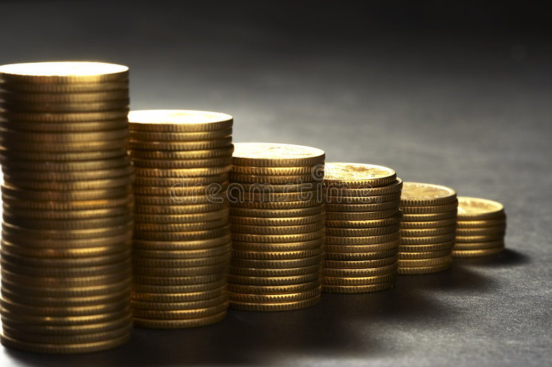 Column from money stock photo