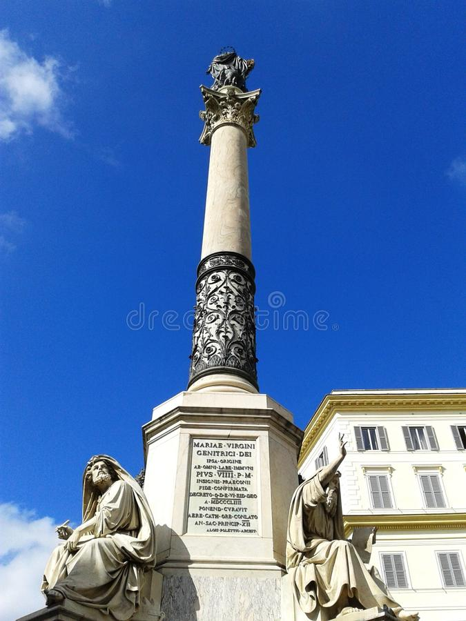 The Column in Rome stock images