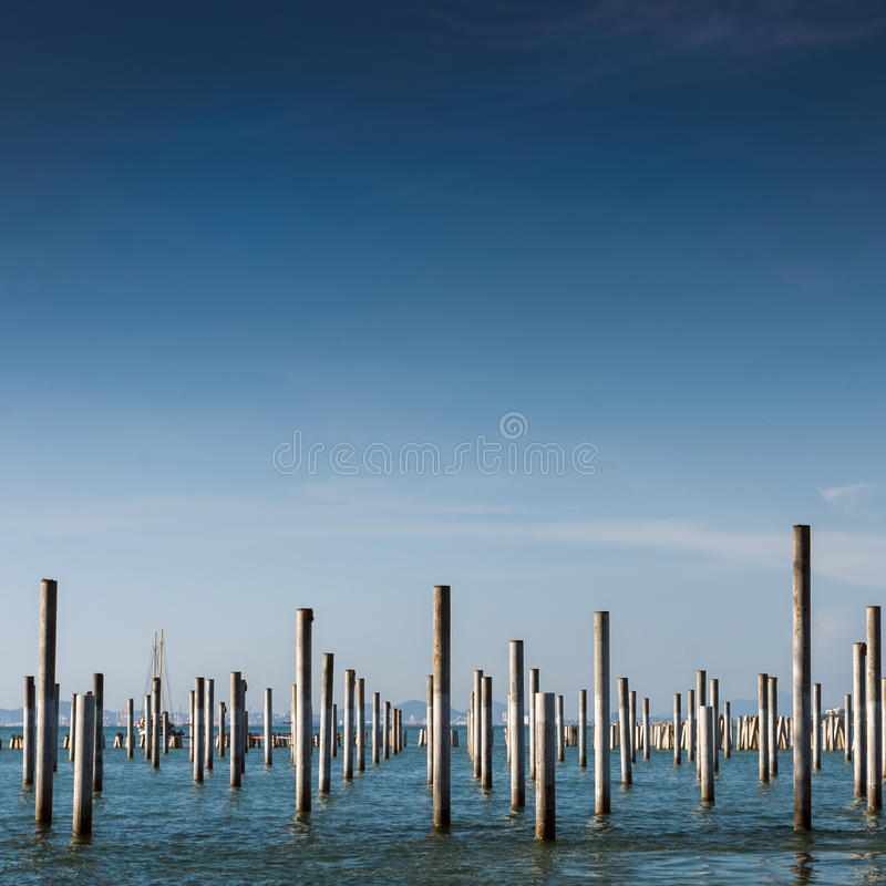 Column In The Sea Stock Images