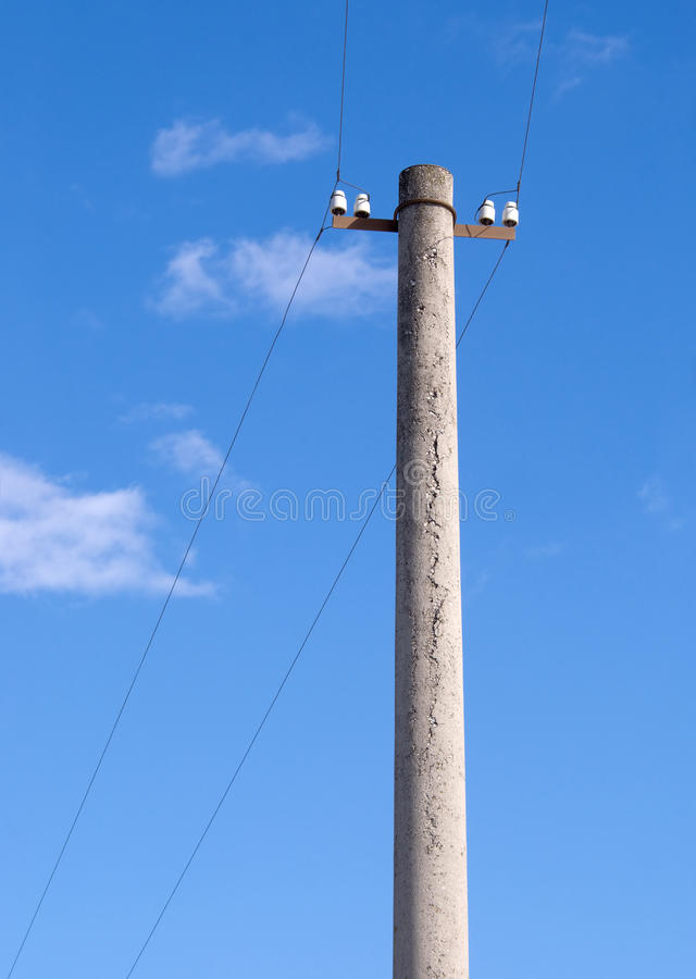Download Column Of Small Electricity Transmission Line Stock Image - Image: 25173897