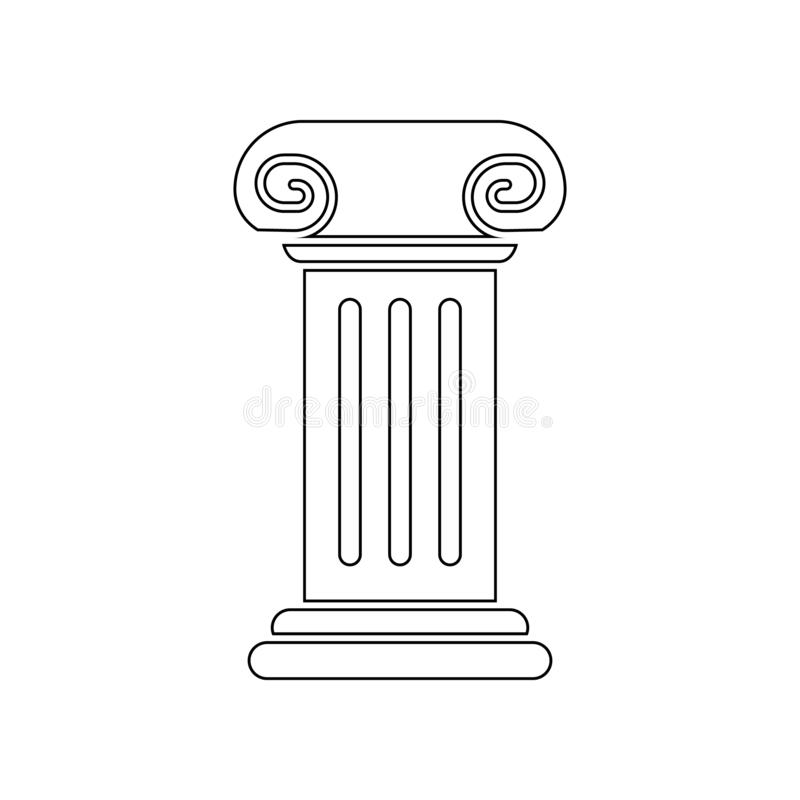 column for a statue icon. Element of Theatre for mobile concept and web apps icon. Outline, thin line icon for website design and stock illustration