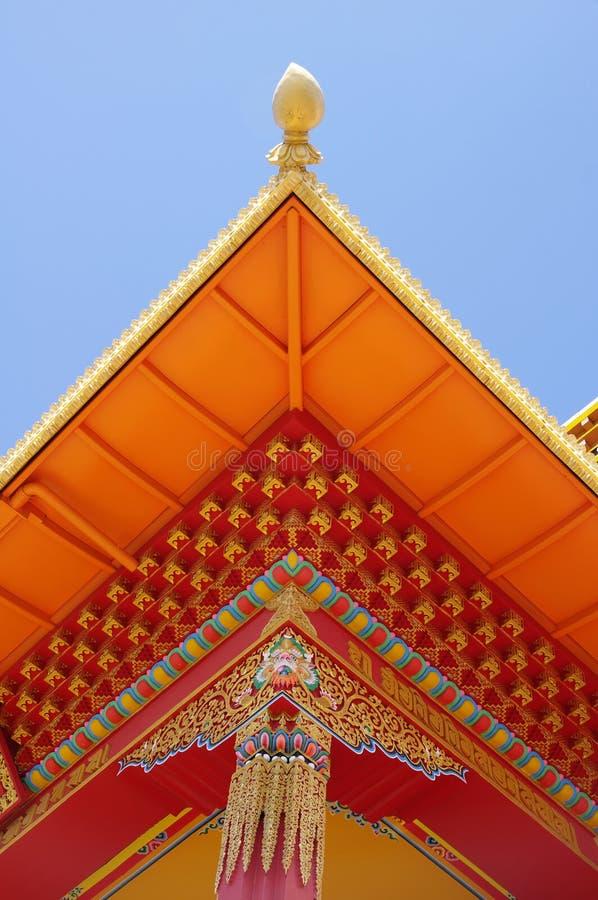 Column under the roof in tibetan Thrangu monastery , Canada stock images