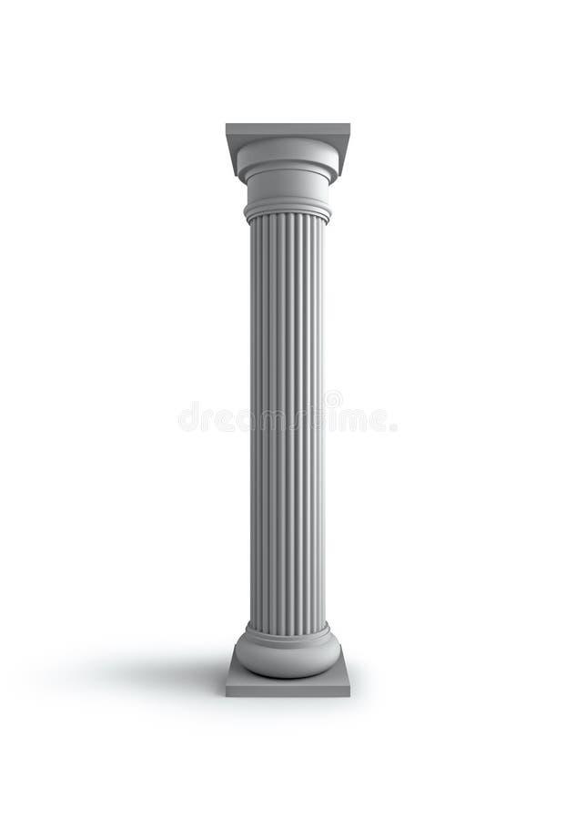 Column on white stock illustration