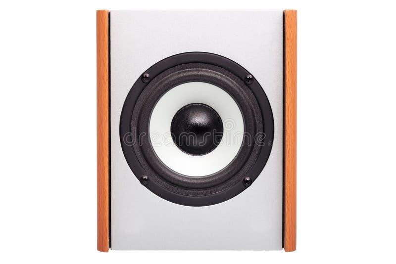Columna acústica con el altavoz blanco imagenes de archivo