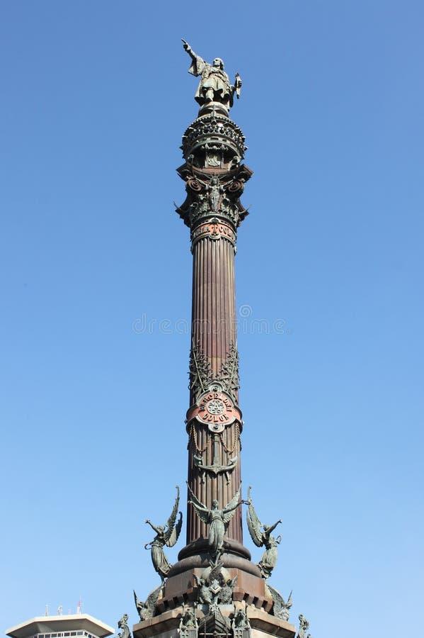 Columna de Columbus en Barcelona fotografía de archivo libre de regalías