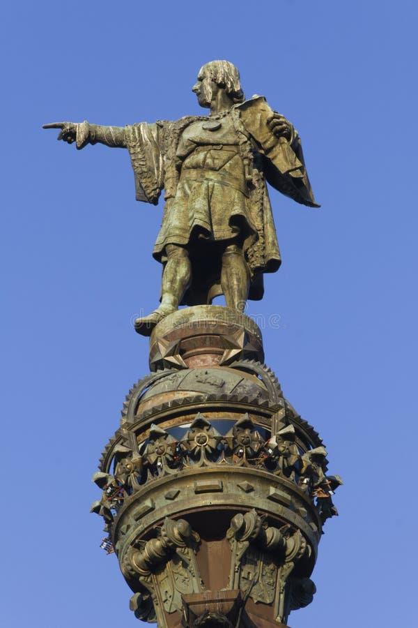 Columna de Columbus en Barcelona imágenes de archivo libres de regalías