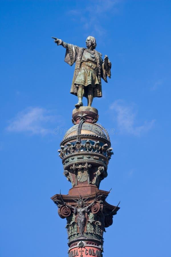 Columna de Columbus en Barcelona fotos de archivo libres de regalías