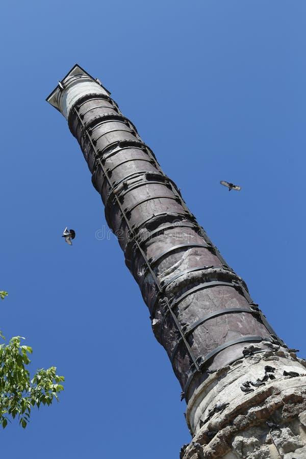 Columna de Constantina en Estambul, Turquía fotos de archivo libres de regalías