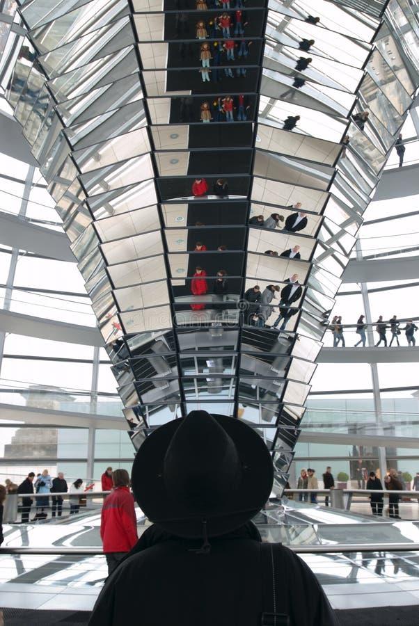 Columna de la central de Reichstag fotos de archivo