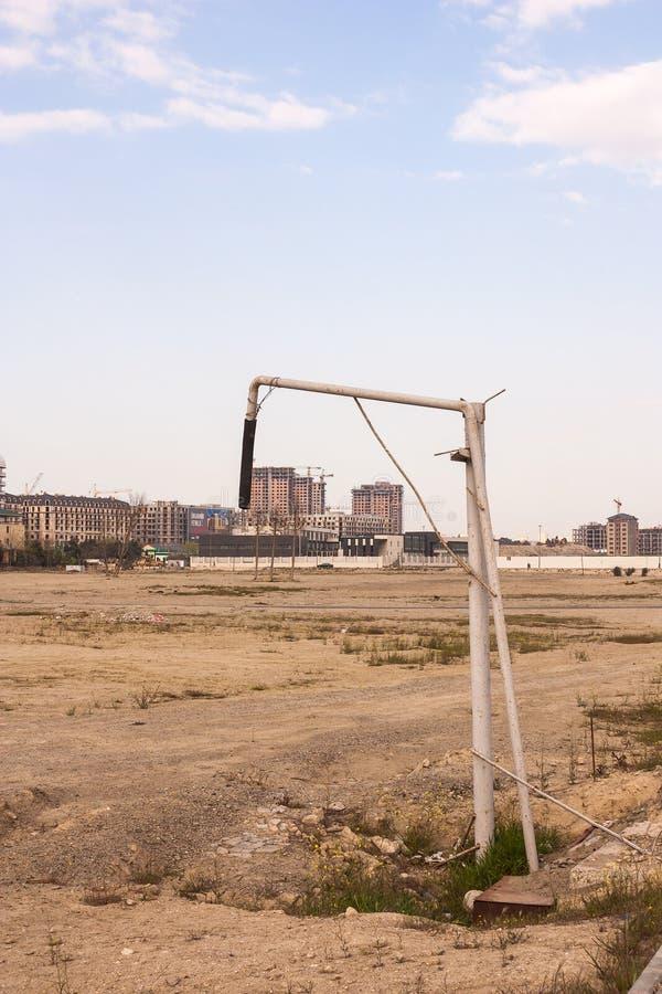 Columna de la distribución de agua instalada para la seguridad contra incendios Para la lucha contra el fuego Baku, Azerbaijan fotos de archivo