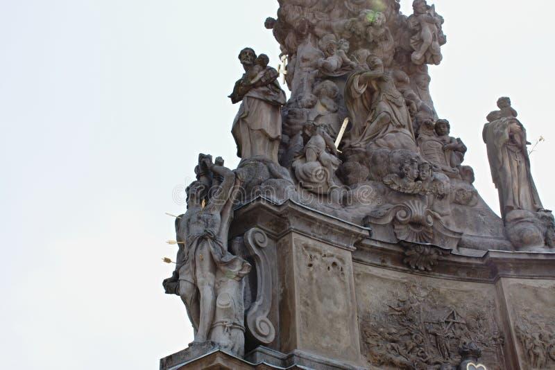 Columna de la plaga en la plaza principal - Kremnica foto de archivo libre de regalías