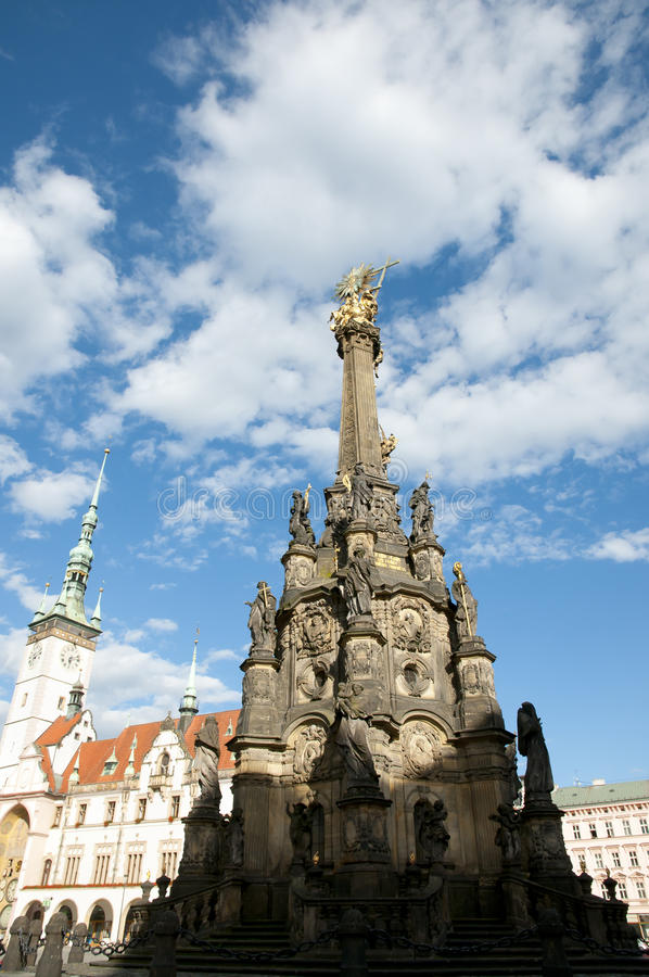 Columna de la trinidad santa - Olomouc - República Checa imagen de archivo libre de regalías