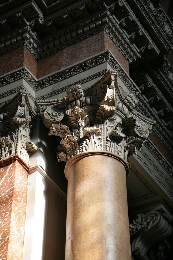 Columna de mármol fotografía de archivo
