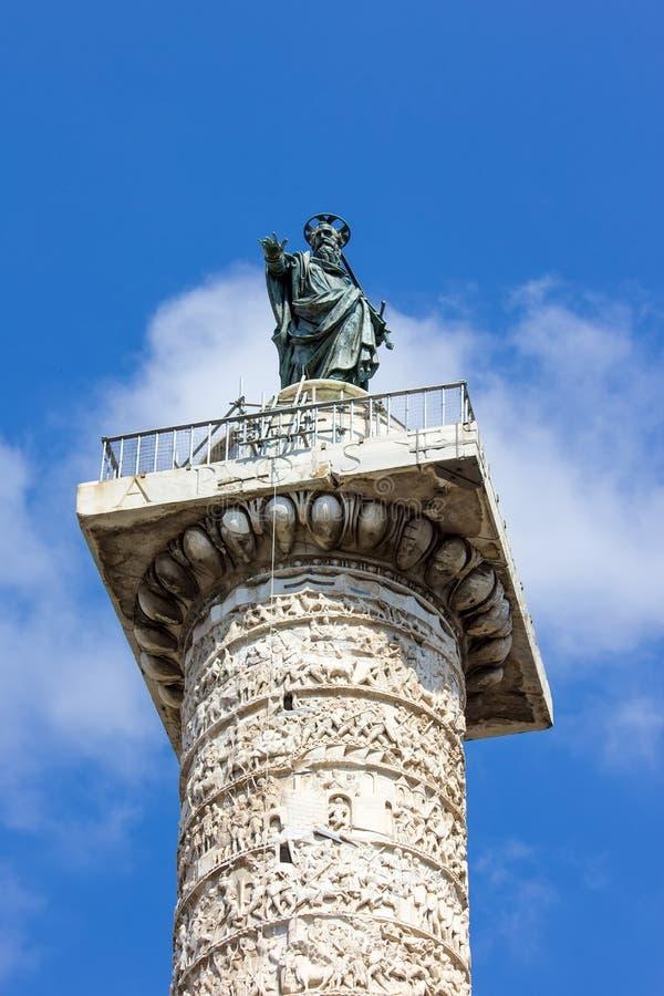 Columna De Marco Aurelio En Roma Foto de archivo - Imagen de viejo ...