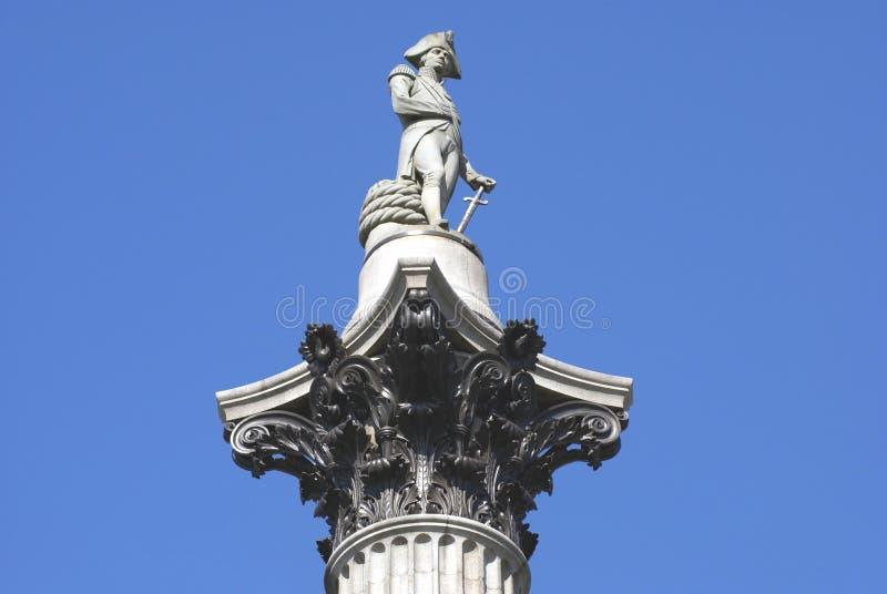 Columna de Nelson's en Trafalgar Square, Londres, Inglaterra, Europa fotografía de archivo