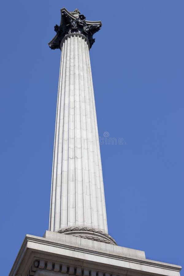 Columna de Nelson (cuadrado de Trafalgar) fotografía de archivo